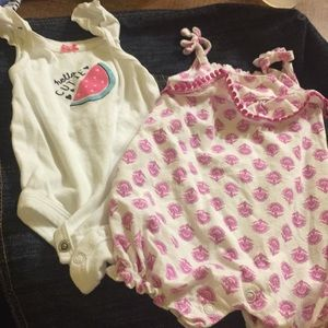 Carters 3 month onesies and little hat
